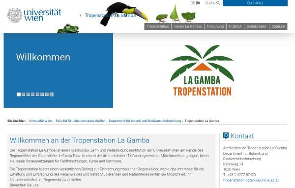 Vorschau von www.lagamba.at, Tropenstation La Gamba in Costa Rica