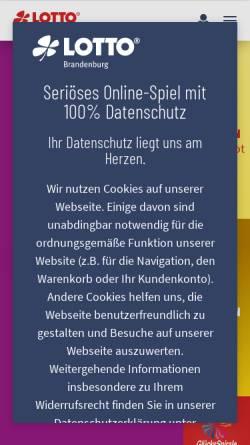 Vorschau der mobilen Webseite www.lotto-brandenburg.de, Lotto Brandenburg