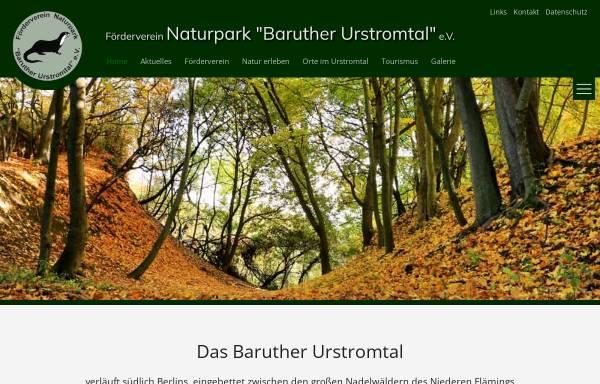 Vorschau von www.baruther-urstromtal.de, Förderverein Naturpark