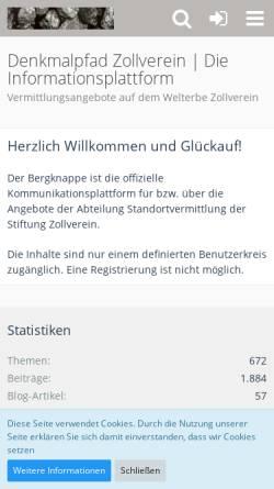 Vorschau der mobilen Webseite www.schacht12.de, Schacht12.de