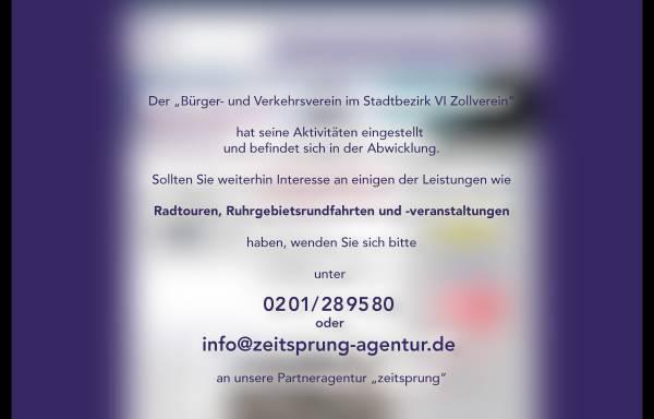 Vorschau von www.zollverein-touristik.de, Zollverein-Touristik