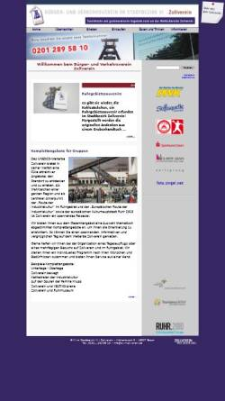 Vorschau der mobilen Webseite www.zollverein-touristik.de, Zollverein-Touristik
