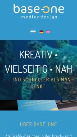Vorschau der mobilen Webseite www.base-one.de, Base-One Mediendesign