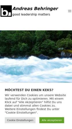 Vorschau der mobilen Webseite www.behringer24.de, Behringer media-consulting