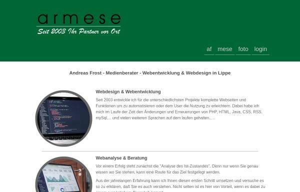 Vorschau von www.armese.de, armese
