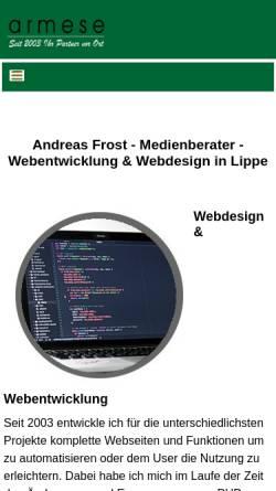 Vorschau der mobilen Webseite www.dsreich.de, Design & Service