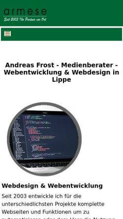 Vorschau der mobilen Webseite www.armese.de, armese
