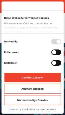 Vorschau der mobilen Webseite www.hdnet.de, HDNET GmbH & Co. KG