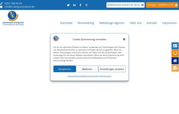 Vorschau von www.it-bergischesland.de, IT Consulting Karsta Kurbjun