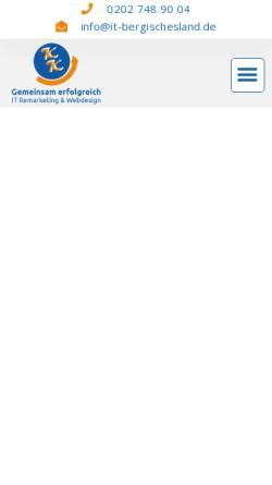 Vorschau der mobilen Webseite www.it-bergischesland.de, IT Consulting Karsta Kurbjun