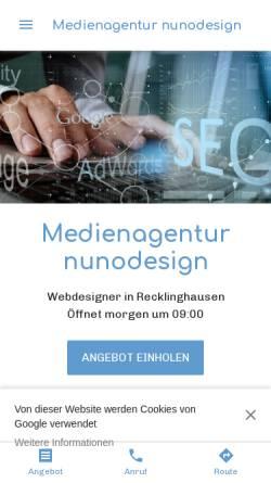 Vorschau der mobilen Webseite www.nunodesign.de, Nunodesign