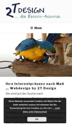 Vorschau der mobilen Webseite 2t-design.de, 2T Design