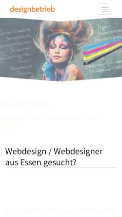 Vorschau der mobilen Webseite designbetrieb.de, Designbetrieb Michael Jauernig