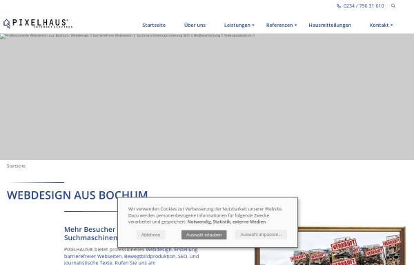 Vorschau von www.pixelhaus.de, Pixelhaus Internet Services
