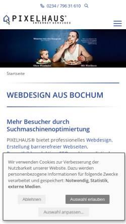 Vorschau der mobilen Webseite www.pixelhaus.de, Pixelhaus Internet Services