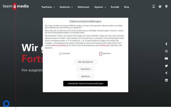 Vorschau von www.team4media.net, team4media GmbH