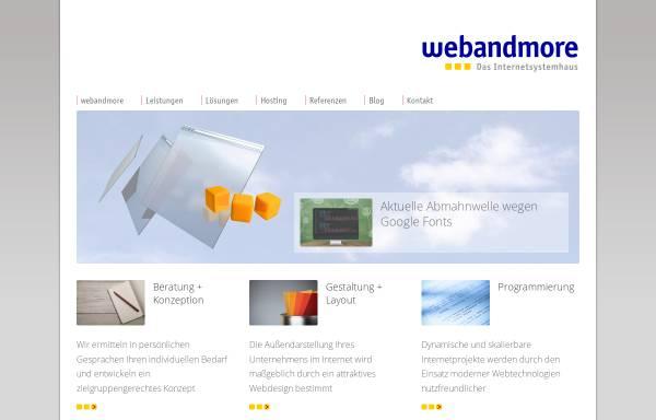 Vorschau von www.webandmore.de, web and more - Das Internetsystemhaus