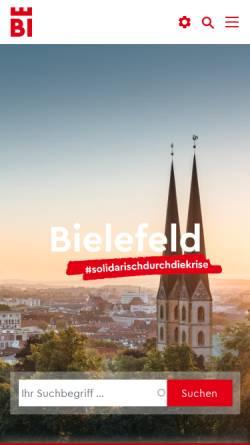 Vorschau der mobilen Webseite www.bielefeld.de, Bielefeld