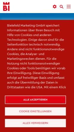 Vorschau der mobilen Webseite www.sparrenburg.info, Sparrenburg Bielefeld