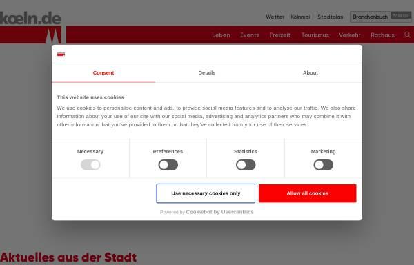 Vorschau von www.koeln.de, Köln