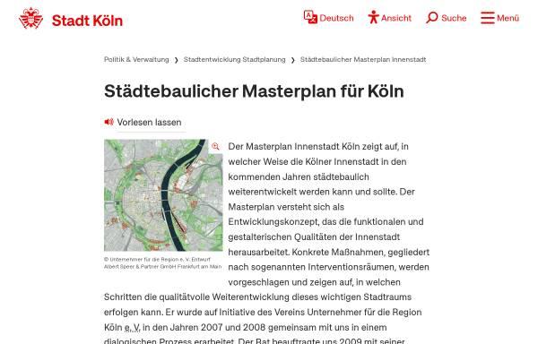 Vorschau von www.masterplan-koeln.de, Masterplan Köln