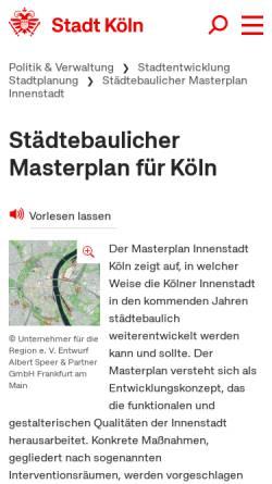 Vorschau der mobilen Webseite www.masterplan-koeln.de, Masterplan Köln