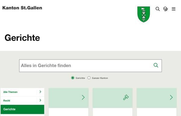 Vorschau von www.gerichte.sg.ch, St.Gallische Gerichte