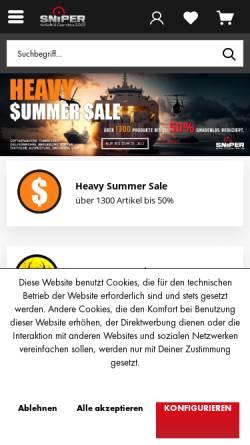 Vorschau der mobilen Webseite www.blowback.de, Blowback