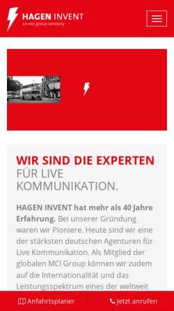 Vorschau der mobilen Webseite www.hagen-invent.de, Gahen Invent Marketing