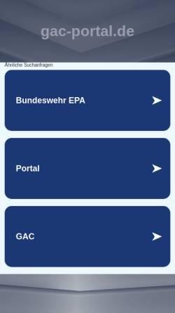 Vorschau der mobilen Webseite www.gac-portal.de, German Airsoft Community