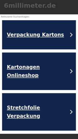 Vorschau der mobilen Webseite www.6millimeter.de, 6millimeter.de