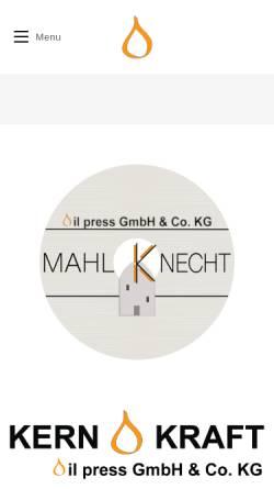 Vorschau der mobilen Webseite www.oelpresse.de, KernKraft GbR
