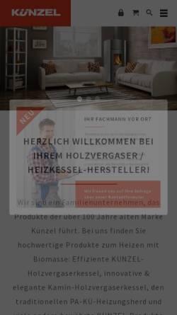 Vorschau der mobilen Webseite www.kuenzel.de, Paul Künzel GmbH & Co.