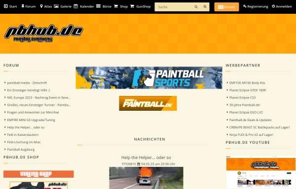 Vorschau von pbhub.de, Paintball Hub