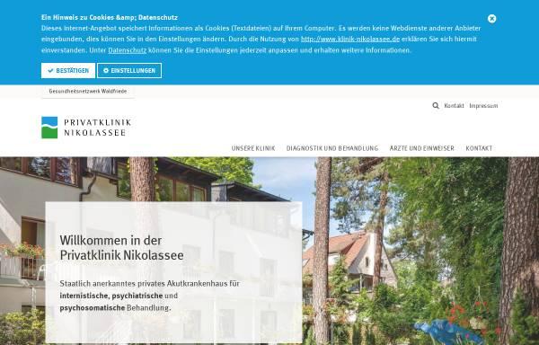 Vorschau von www.klinik-nikolassee.de, Klinik Nikolassee
