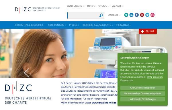 Vorschau von www.dhzb.de, Deutsches Herzzentrum Berlin