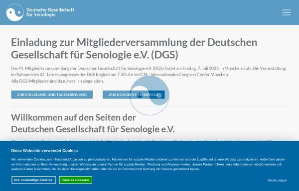 Vorschau von www.senologie.org, Deutsche Gesellschaft für Senologie