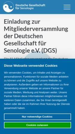 Vorschau der mobilen Webseite www.senologie.org, Deutsche Gesellschaft für Senologie