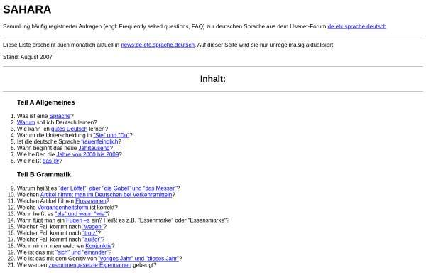 Vorschau von schweinebildchen.de, SAHARA (FAQ deutsche Sprache)