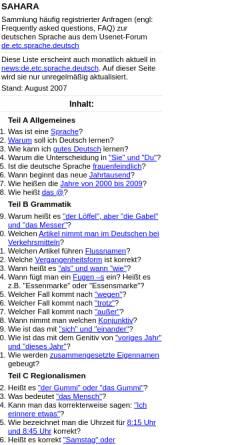 Vorschau der mobilen Webseite schweinebildchen.de, SAHARA (FAQ deutsche Sprache)