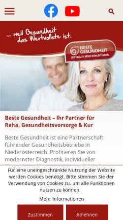 Vorschau der mobilen Webseite www.vital.at, Bad Aussee - Salzkammergut