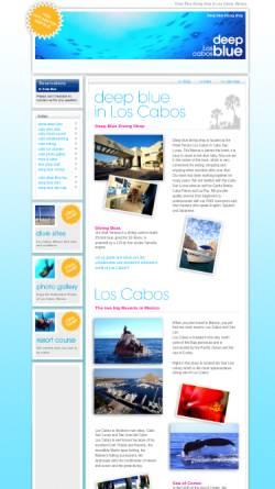 Vorschau der mobilen Webseite cabodeepblue.com, Deep Blue