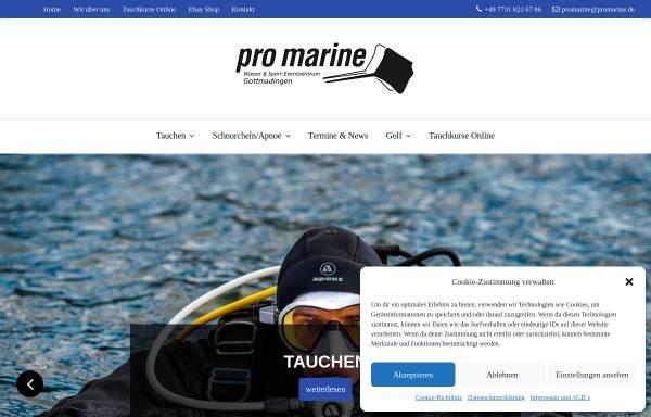 Vorschau von promarine.de, Pro Marine Tauchsport