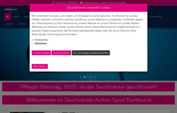 Vorschau von www.action-sport-dortmund.de, Action-Sport Dortmund - Tauchcenter