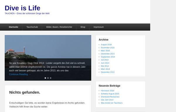 Vorschau von www.dive-is-life.de, Dive-is- Life - Tauchen in Bonn