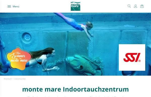 Vorschau von www.monte-mare.de, monte mare Indoor Tauchzentrum