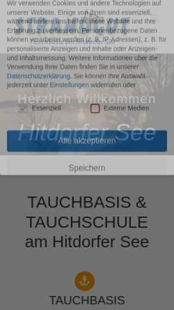 Vorschau der mobilen Webseite www.cafestrandgut.de, Tauchbasis am Hitdorfer See