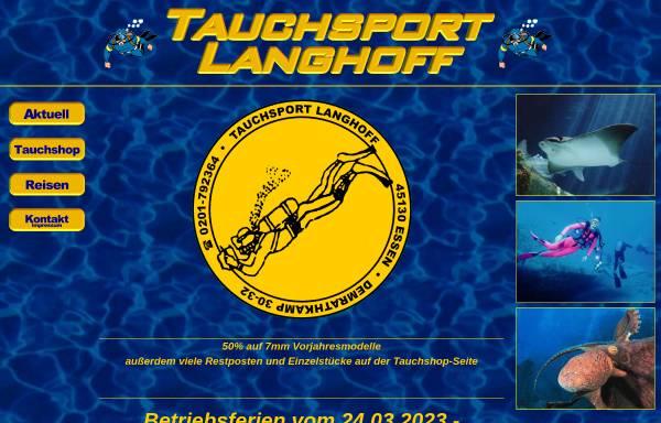 Vorschau von www.tauchsport-langhoff.de, Tauchsport Langhoff