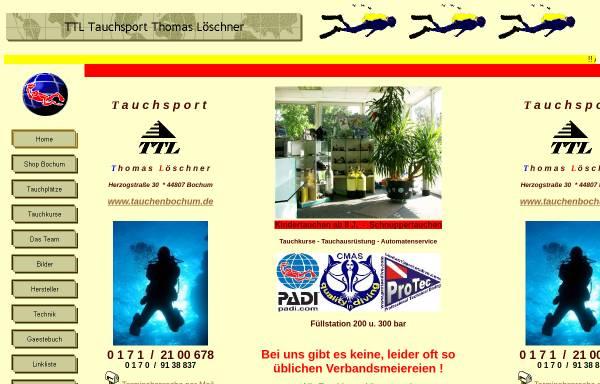 Vorschau von www.tauchenbochum.de, Tauchsport Thomas Löschner