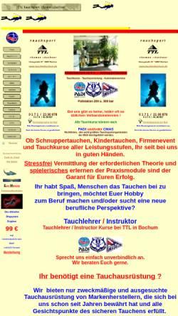 Vorschau der mobilen Webseite www.tauchenbochum.de, Tauchsport Thomas Löschner